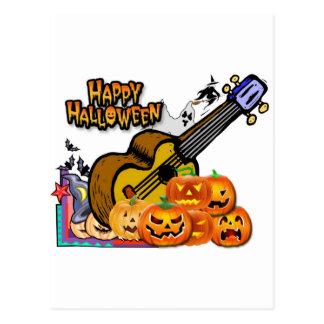 Cartão Postal Ukulele do Dia das Bruxas