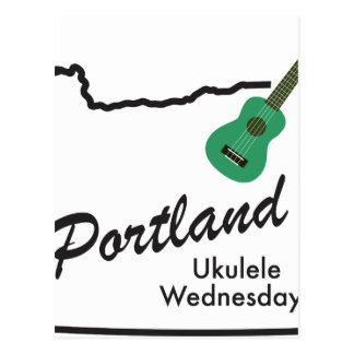 Cartão Postal Ukulele quartas-feiras de Portland