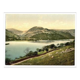 Cartão Postal Ullswater, do lugar caiu, distrito do lago,