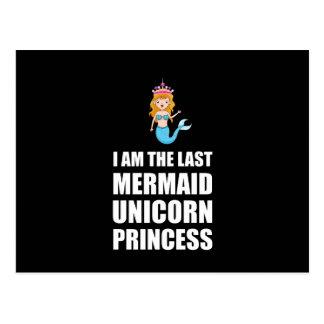 Cartão Postal Última princesa da sereia do unicórnio