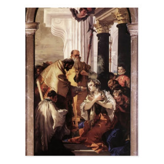 Cartão Postal Último comunhão de Giovanni Tiepolo- da rua Lucy