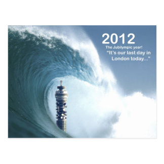 Cartão Postal Último dia em Londres - um tsunami traga Londres