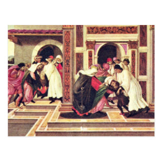 Cartão Postal Último milagre e a morte de St. Zenobius