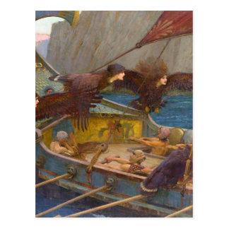 Cartão Postal Ulysses e as sirenes