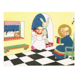 Cartão Postal Um anjo na casa, Natal, asno