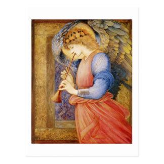 Cartão Postal Um anjo que joga um Flageolet - Edward Burne-Jones