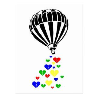 Cartão Postal Um balão colorido