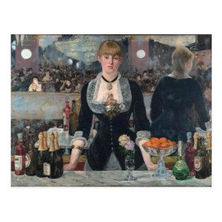 Cartão Postal Um bar no Folies-Bergère por Édouard Manet