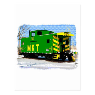 Cartão Postal Um Caboose de MKT