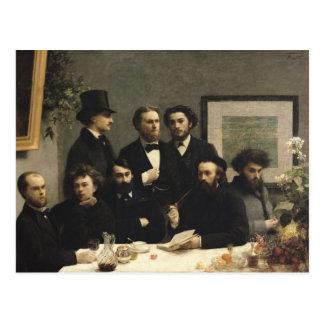 Cartão Postal Um canto da mesa, 1872