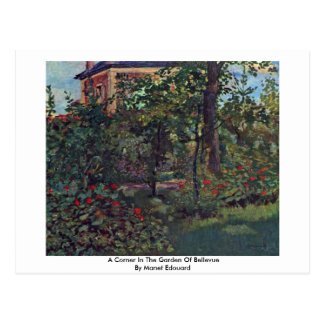 Cartão Postal Um canto no jardim de Bellevue