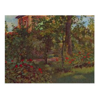Cartão Postal Um canto no jardim de Bellevue por Manet