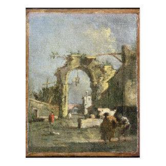 Cartão Postal Um capricho - ruínas, século XVIII