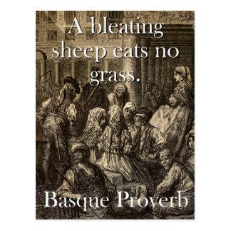 Cartão Postal Um carneiro do balido come - o provérbio Basque