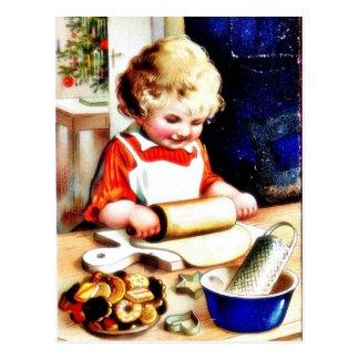 Cartão Postal Um chapathi do fazer do miúdo