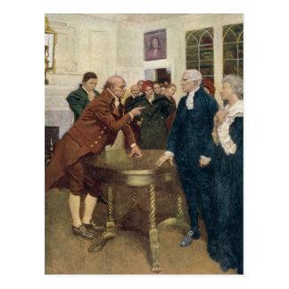 Cartão Postal Um comitê dos patriotas que entregam um ultimato
