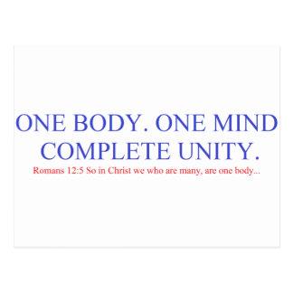 Cartão Postal Um corpo. Uma mente