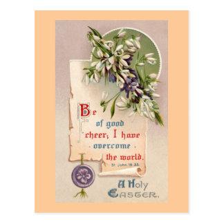 Cartão Postal Um cristão santamente do vintage da páscoa