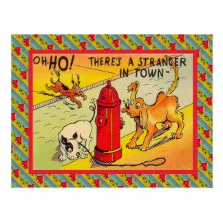 Cartão Postal Um desconhecido de Ther na cidade