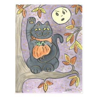 Cartão Postal Um desejo da boa sorte do outono