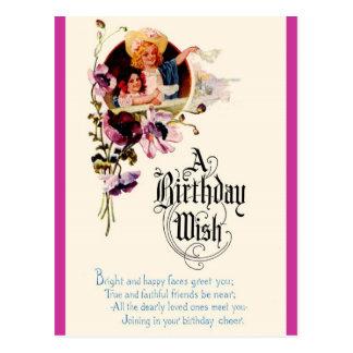Cartão Postal Um desejo do aniversário