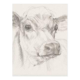 Cartão Postal Um desenho de uma vaca nova