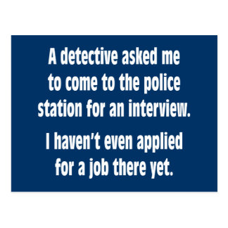 Cartão Postal Um detetive pediu que eu viesse à esquadra de