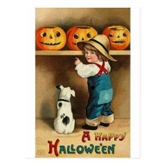 Cartão Postal Um Dia das Bruxas feliz