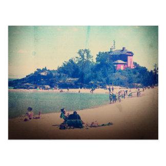 Cartão Postal Um dia na praia