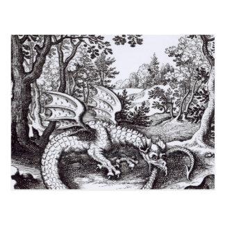 Cartão Postal Um dragão na floresta