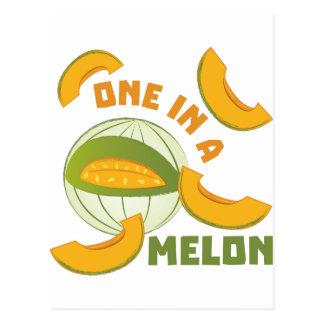 Cartão Postal Um em um melão