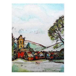 Cartão Postal Um esboço britânico idílico da vila