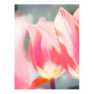 Cartão Postal Um esboço do duo do Tulipa