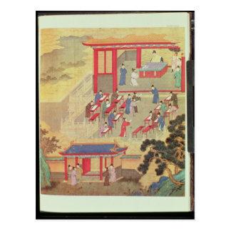 Cartão Postal Um exame público chinês antigo