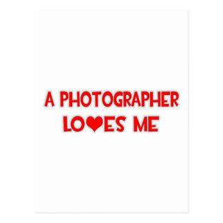 Cartão Postal Um fotógrafo ama-me