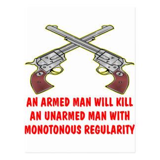 Cartão Postal Um homem armado matará um homem desarmado