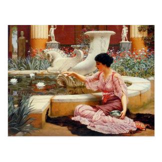 Cartão Postal Um jardim de Pompeian - Godward