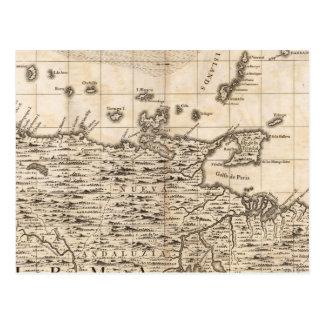 Cartão Postal Um mapa do Império Britânico na folha 19 de