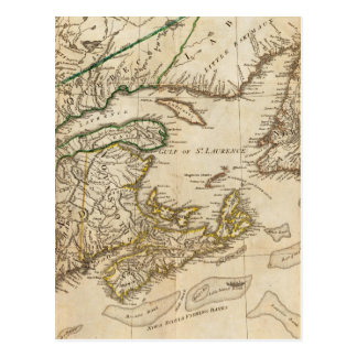 Cartão Postal Um mapa geral das colônias britânicas do norte