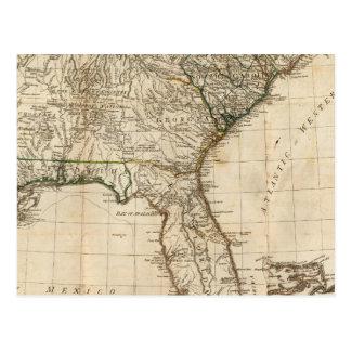 Cartão Postal Um mapa geral das colônias britânicas do sul