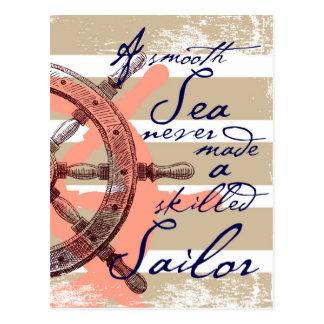 Cartão Postal Um mar liso nunca fez um marinheiro especializado