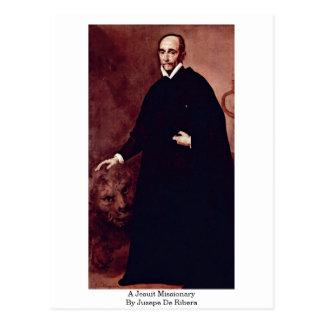 Cartão Postal Um missionário do jesuíta por Jusepe De Ribera
