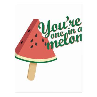 Cartão Postal Um no melão