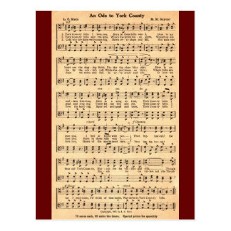 Cartão Postal Um ode ao Condado de York na música & no verso