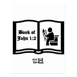 Cartão Postal Um outro livro do 1:2 do verso de John