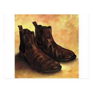 Cartão Postal Um par de botas de Chelsea