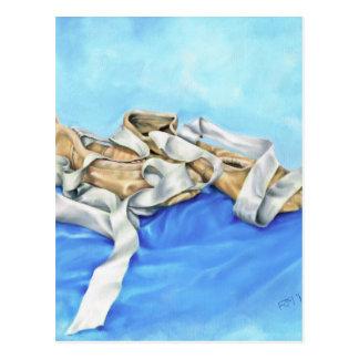 Cartão Postal Um par de calçados de balé