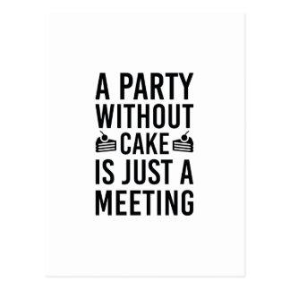 Cartão Postal Um partido sem bolo é apenas uma reunião
