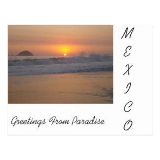 Cartão Postal Um por do sol em México