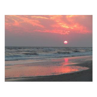 Cartão Postal Um por do sol perfeito - ilha do carvalho, NC